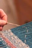 编织的妇女 免版税库存图片