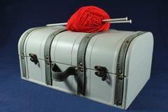 编织的箱子 图库摄影