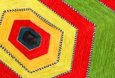 编织的纱线模式 图库摄影