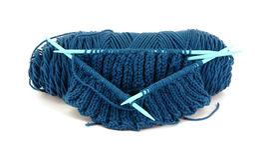 编织的纱线 库存图片