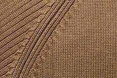 编织的纹理羊毛 免版税库存图片