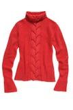 编织红色毛线衣 库存图片