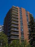 编译住宅高的公寓architec 库存照片