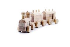 编译做的玩具培训木头 库存图片