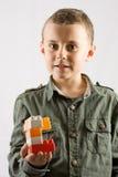 编译儿童玩具的块 库存图片