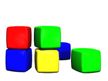 编译儿童的玩具的块 免版税库存照片