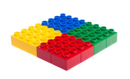 编译塑料的块 免版税库存图片