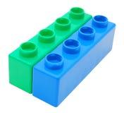 编译塑料的块 库存照片