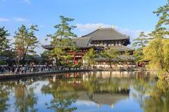 编译大厅遗产日本ji最大的奈良站点结构todai科教文组织木世界的所有菩萨 免版税库存照片