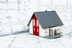 编译新概念的房子 免版税库存照片