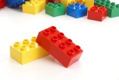 编译玩具的块 库存图片