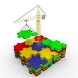 编译的上升梯子成功成功的成功 免版税库存照片