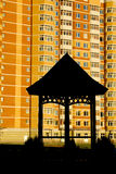 编译的前多层的summerhouse 免版税图库摄影