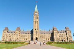 编译的加拿大小山议会 库存照片