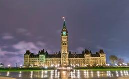 编译的加拿大渥太华议会 免版税库存图片