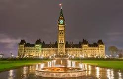 编译的加拿大渥太华议会 库存图片