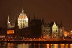 编译的匈牙利议会 免版税库存图片