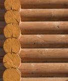 编译的外部家庭房子日志结构木头 免版税库存图片