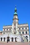编译的外部有历史 大厦城市圆柱状大厅匈牙利 库存图片