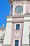 编译的外部有历史 大厦城市圆柱状大厅匈牙利 免版税库存照片