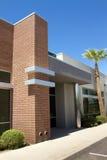 编译的总公司入口现代办公室 免版税库存照片
