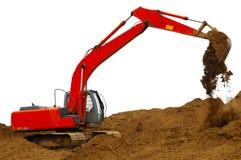 编译的挖泥机 库存照片
