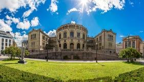 编译的挪威奥斯陆议会 库存图片
