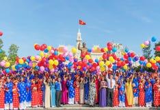 编译的殖民地法国越南 免版税库存照片