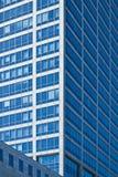 编译的现代办公室摩天大楼视窗 库存图片