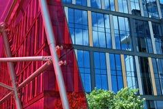 编译的现代办公室 结构上大厦详述现代 库存照片