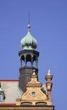 编译的老布拉格 cesky捷克krumlov中世纪老共和国城镇视图 免版税库存图片