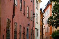 编译的老斯德哥尔摩瑞典城镇 免版税库存照片