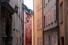 编译的老斯德哥尔摩瑞典城镇 库存照片