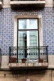 编译的老视窗 里斯本葡萄牙 库存照片