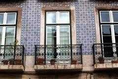 编译的老视窗 里斯本葡萄牙 库存图片