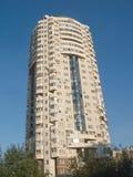 编译高住宅含沙的蓝色褐色 免版税库存照片