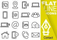 编辑可能的冲程70x70映象点 简单的套与垂直的黄色横幅-目录,地图, sm的联络传染媒介十六平的线象 皇族释放例证