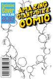 编辑可能的漫画书套有抽象背景 库存例证