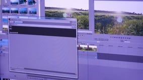 编辑在个人计算机的录影广播 影视素材