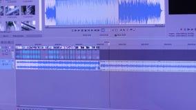 编辑在个人计算机的录影广播 股票录像