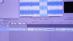 编辑在个人计算机的录影广播 股票视频