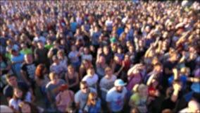 编辑的背景 音乐会的人们 股票视频
