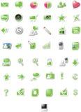 编辑绿色图标万维网 免版税库存图片