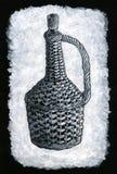 编辫子的瓶 免版税图库摄影