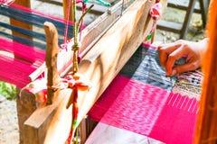 编织与古老工具 图库摄影
