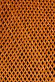 编织与孔的柳条纹理 库存照片