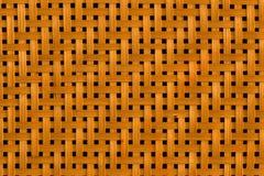 编织与孔的竹子纹理 库存图片