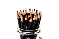 编组五颜六色的铅笔 免版税库存图片