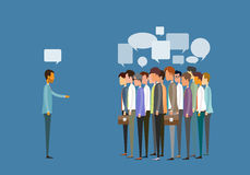 编组人业务会议和营业通讯概念 皇族释放例证