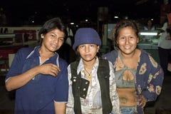 编组拉丁美洲人,尼加拉瓜人,街道孩子画象  库存图片